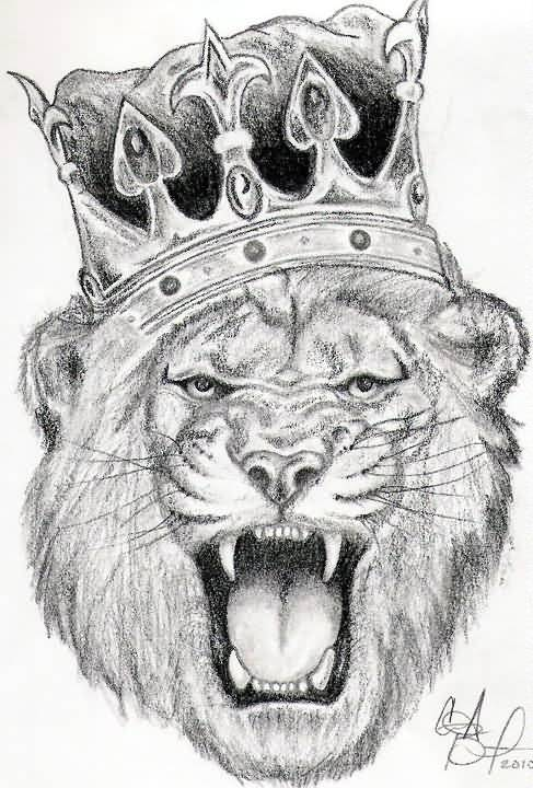 King Tattoo - Cute Lion King Sketch