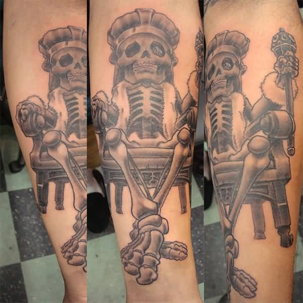 King tattoo ideas and king tattoo designs page 12 for Skeleton king tattoo