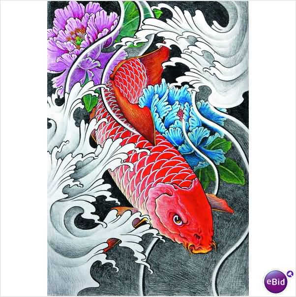 Koi tattoo ideas and koi tattoo designs page 34 for Koi carp pool design