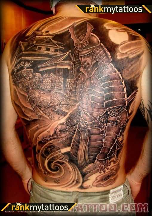 a4277f5f2c799 Attractive Japanese Warrior Full Back Body Tattoo Design Fabulous