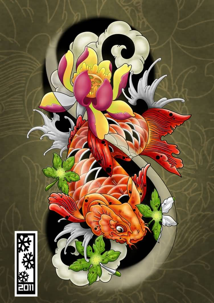 Koi tattoo ideas and koi tattoo designs page 12 for Koi fish designs