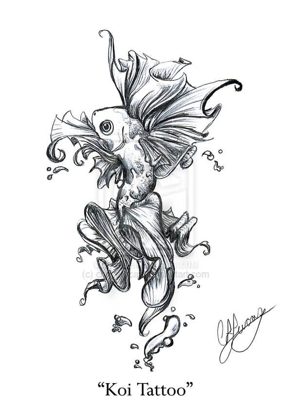 Best butterfly koi fish tattoo design for Butterfly koi tattoo