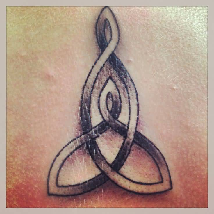Motherhood symbols knot tattoo on ankle for Celtic mother son tattoo