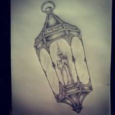Best Traditional Lamp Tattoo Design
