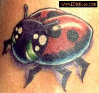 Big Ladybug Tattoo On Arm Beautiful