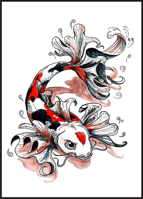 Koi tattoo ideas and koi tattoo designs page 47 for Butterfly koi tattoo