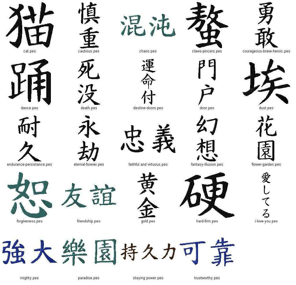 Different Japanese Kanji Tattoo Design Fabulous