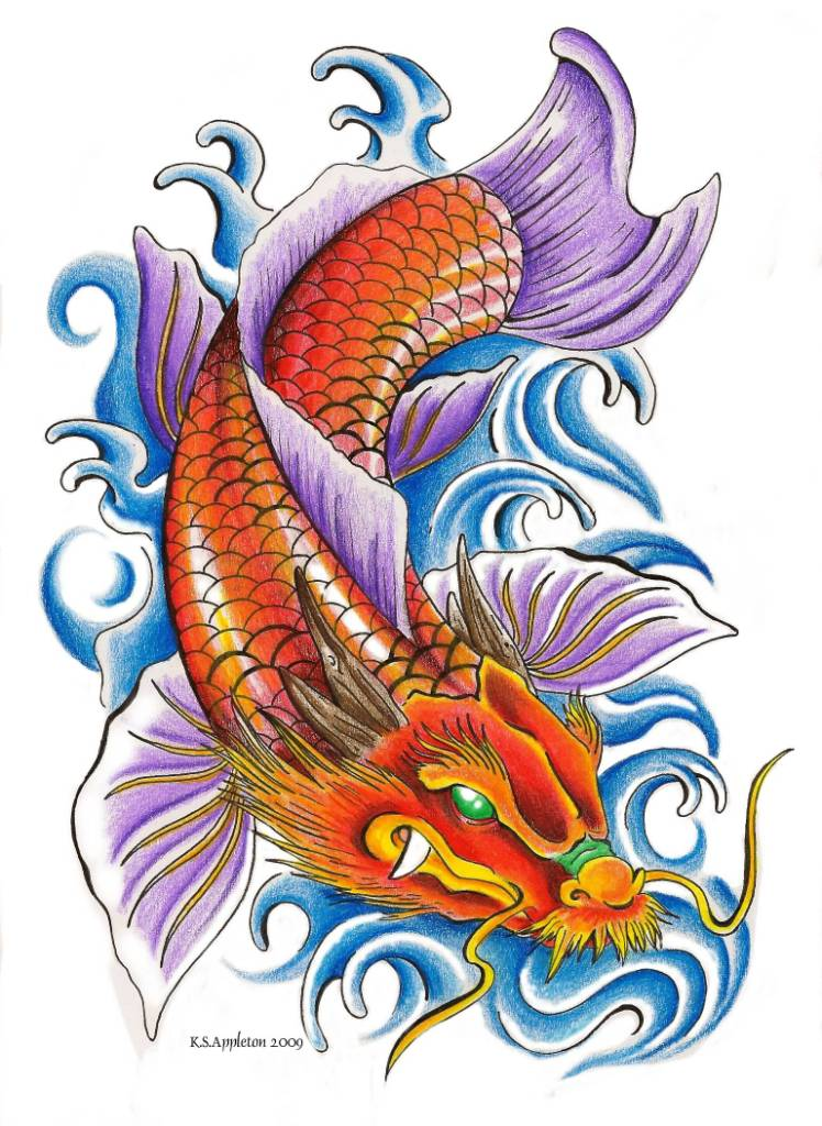 Koi tattoo ideas and koi tattoo designs page 29 for Koi fish designs