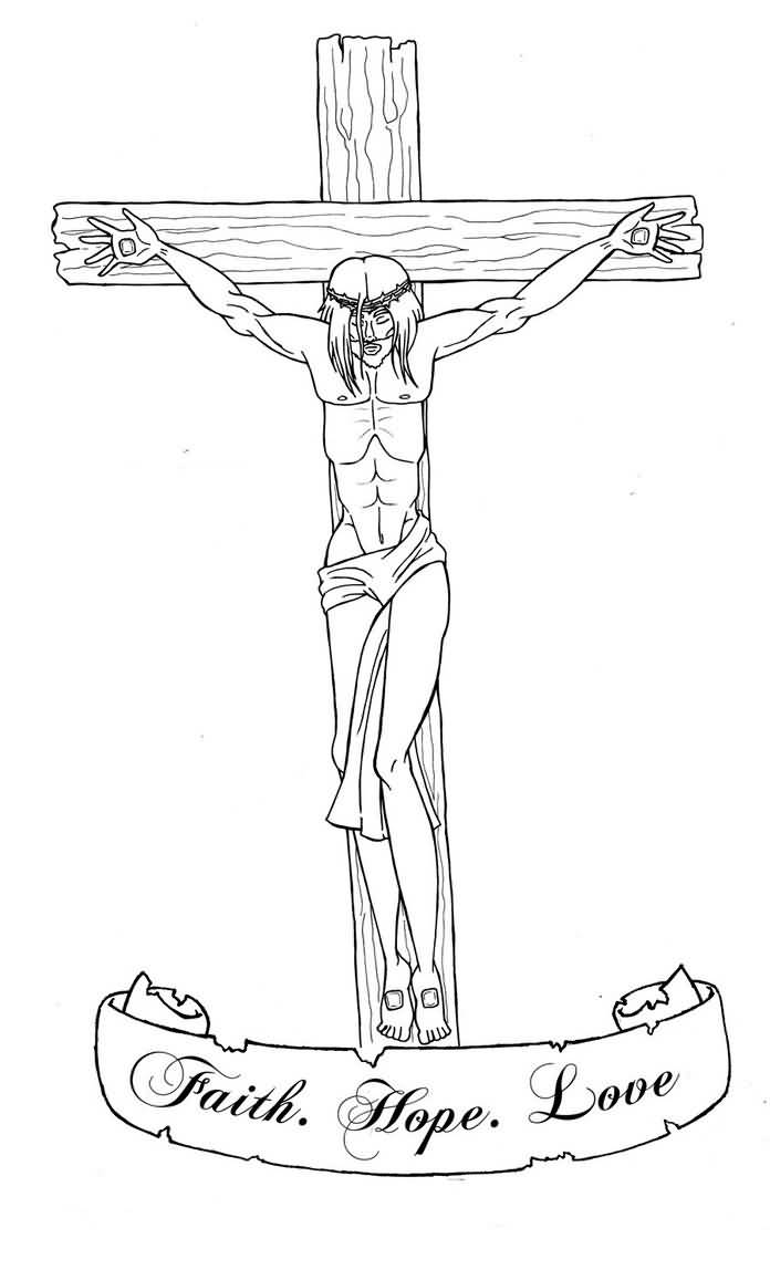Jesus Outline Images Draw Beautiful Faith Hope Love