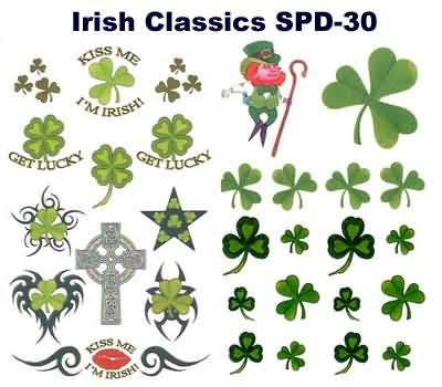 Fabulous Irish Shamrock Tattoo Design Gallery