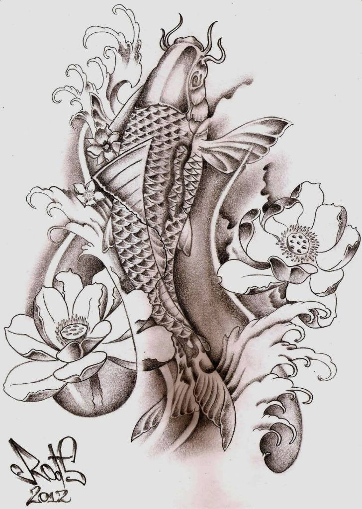 Koi tattoo ideas and koi tattoo designs page 28 for Japanese koi design
