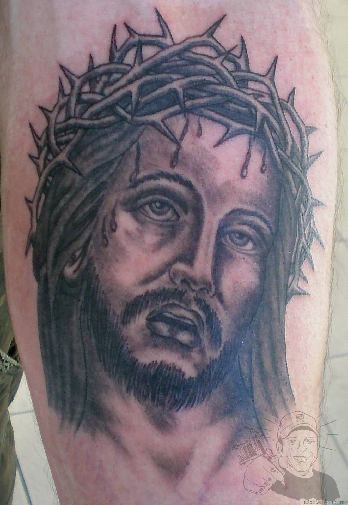 jesus tattoo ideas and jesus tattoo designs. Black Bedroom Furniture Sets. Home Design Ideas