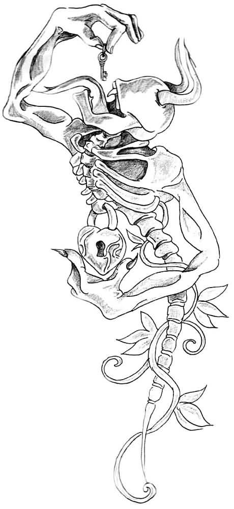 Gallery For gt Skull Tattoo Flash Outlines