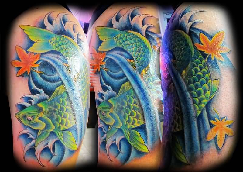 Koi tattoo ideas and koi tattoo designs page 46 for Green koi fish for sale