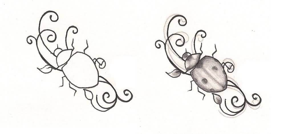 How Can Create Ladybug Tattoo Design Superb