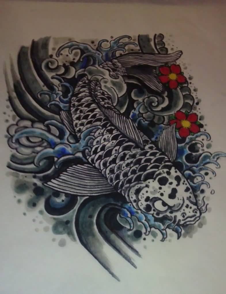 Incredible koi and pictures to pin on pinterest tattooskid for Black koi fish