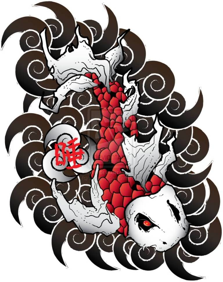 Japanese koi tattoo design images for Japanese koi