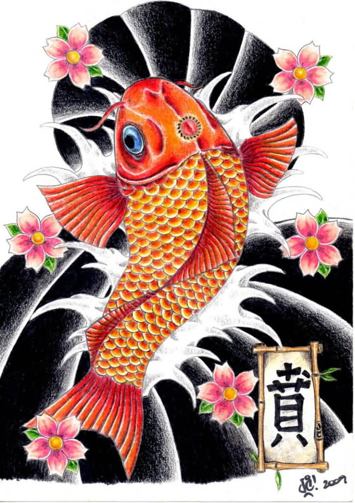 Koi tattoo ideas and koi tattoo designs page 17 for Japanese koi design