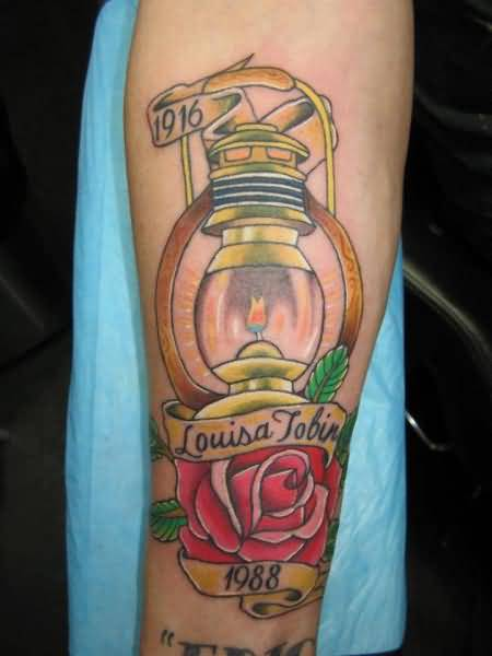 Louisa Tobin Lamp Tattoo Beautiful