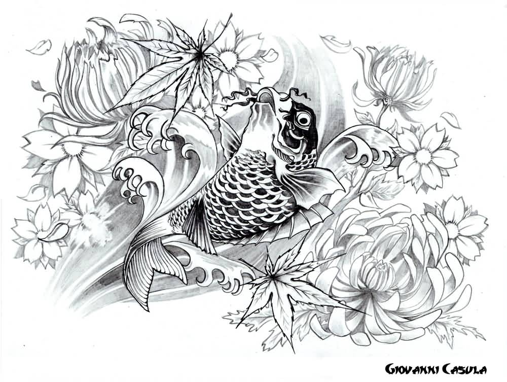Pisces koi tattoo designs images for Koi fish pisces