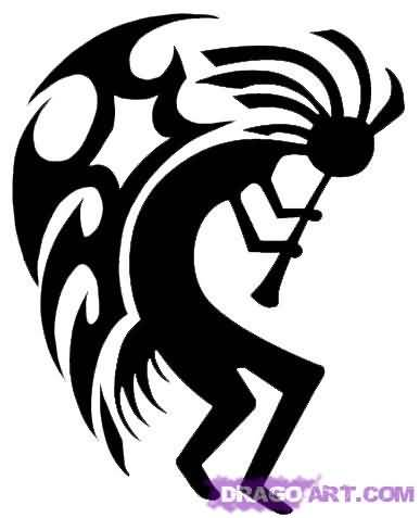 Nice Kokopelli Wings Tattoo Design