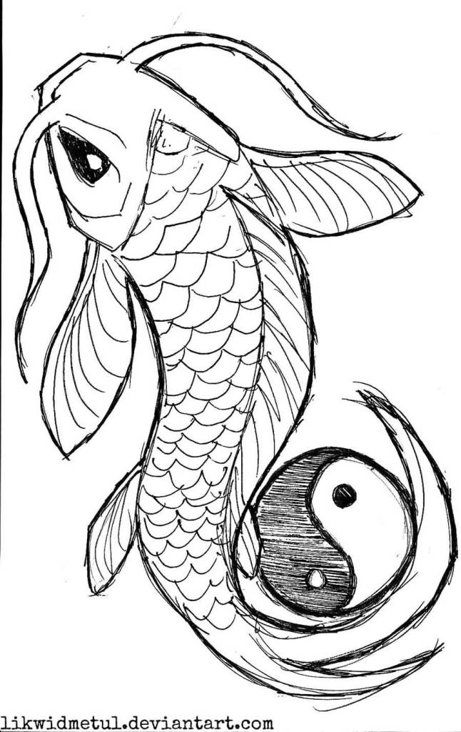 Gallery For gt Yin Yang Koi Fish Outline