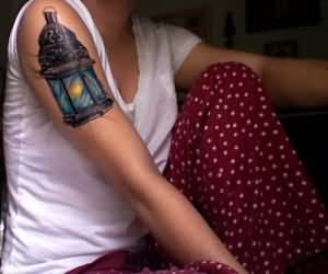 On Bicep Best Ever Lamp Tattoo