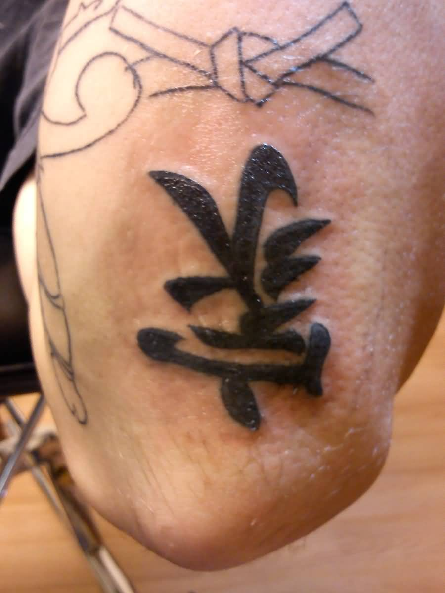 On Elbow Best Kanji Tattoo Design