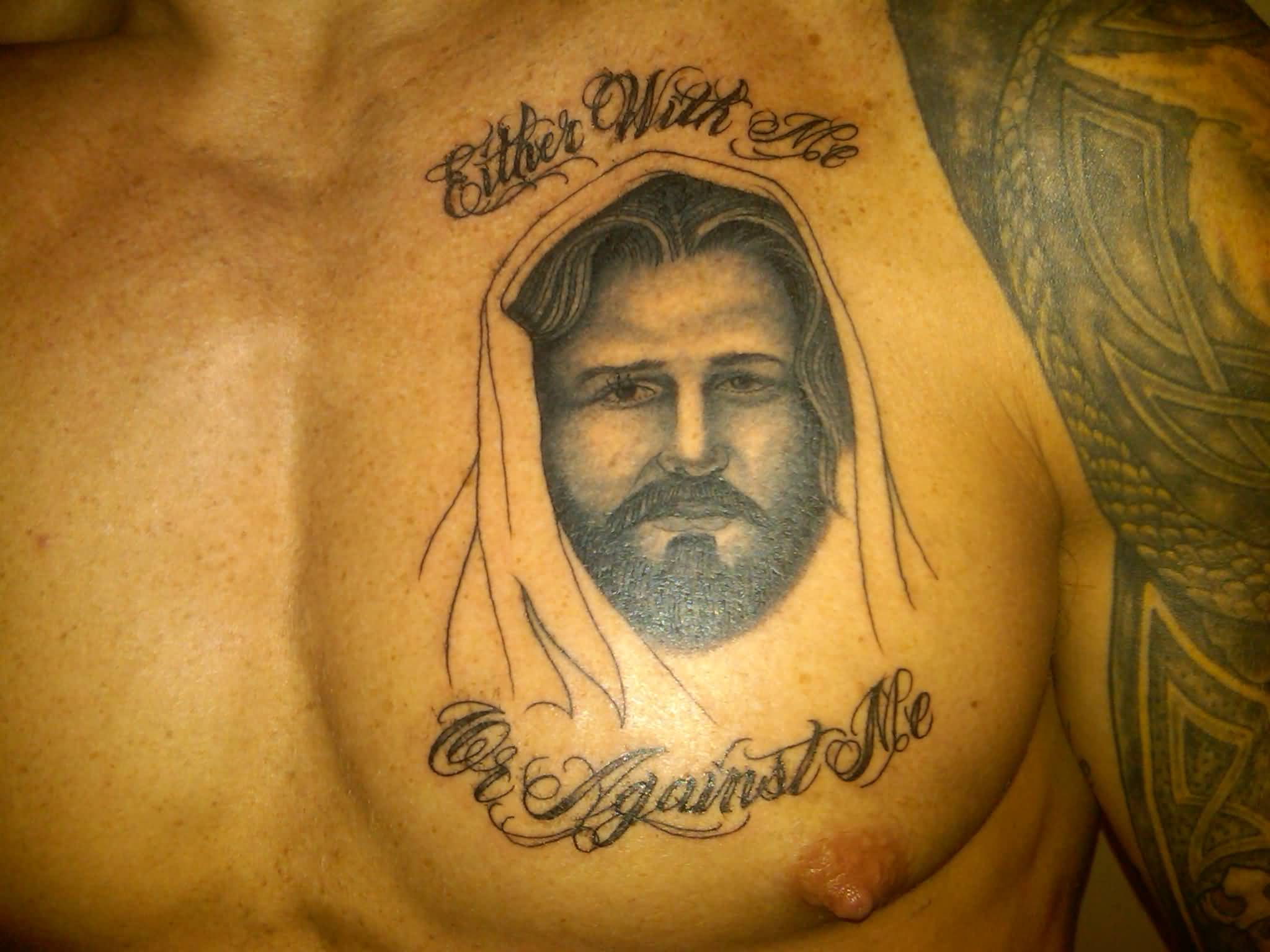 On Left Chest Awesome Tattoo