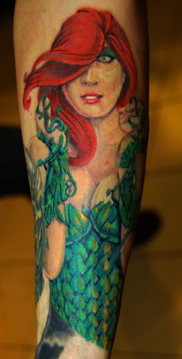 One Of Best Ivy Comic Tattoo Design