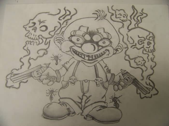 Ouline Famous Funny Icp Tattoo Design