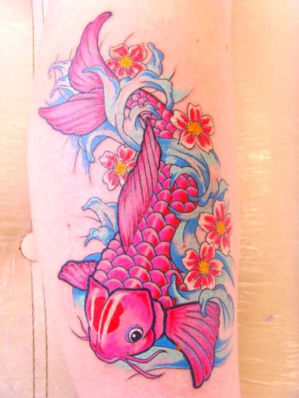 100 small koi fish tattoo on small blue koi fish for Tattoo parlors in anchorage
