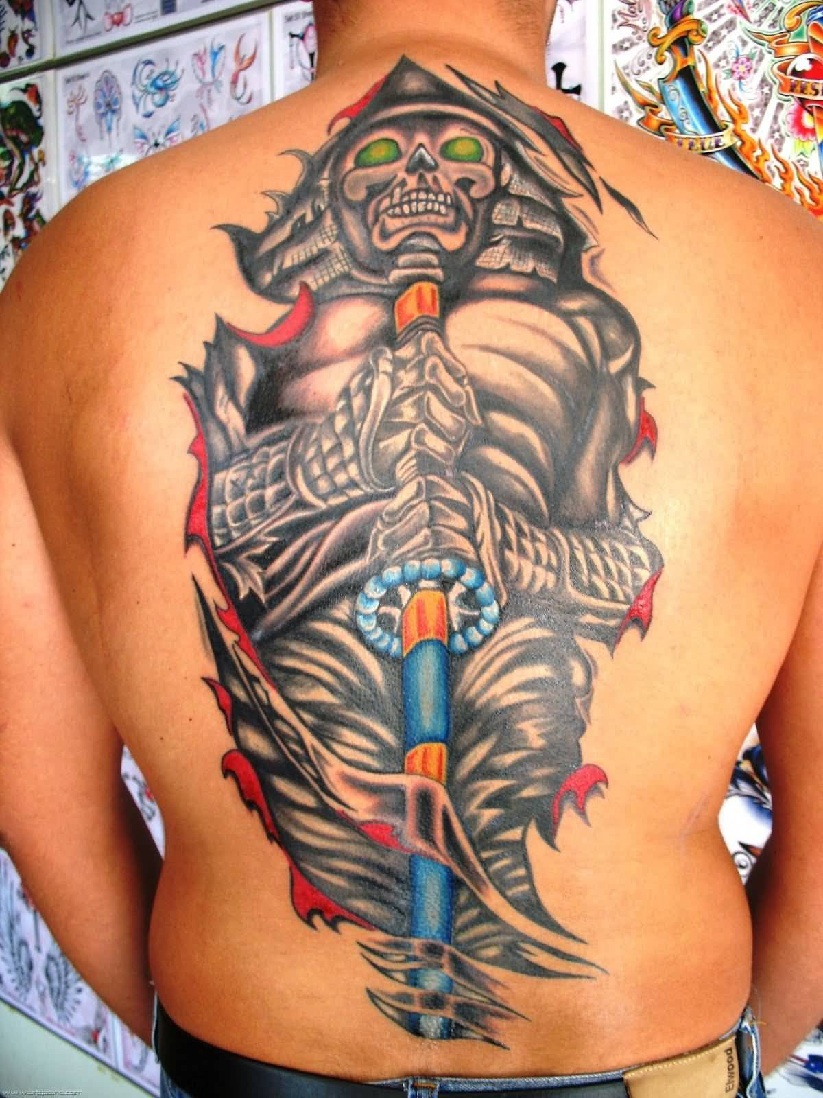 Traditional Back Body Awesome Japanese Tattoo