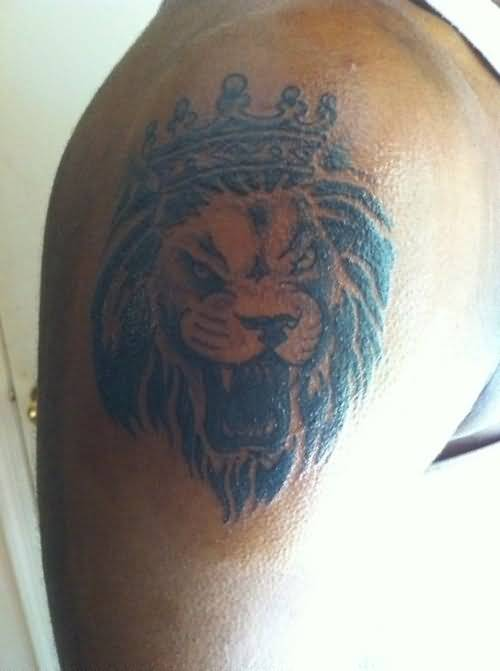 aggressive lion king tattoo on arm. Black Bedroom Furniture Sets. Home Design Ideas