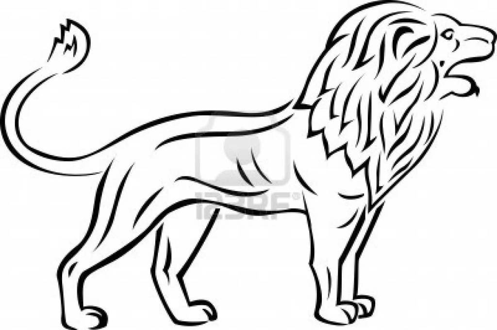 Amazing Outline Of Lion Tattoo Lion of judah tattoo designs often have the colors green, yellow and red incorporated. tattooshunter com
