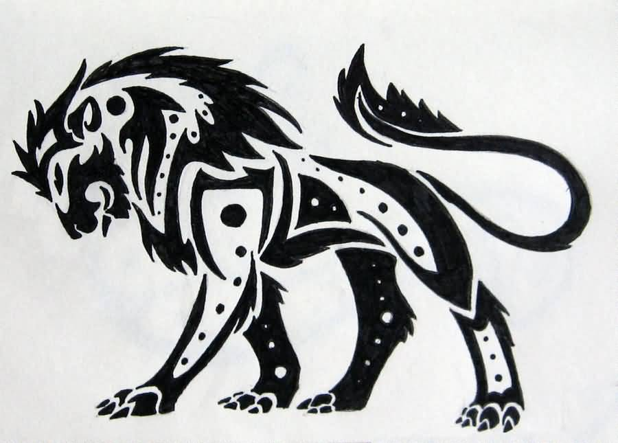 Ben noto Maori Lion Tattoo Sketch Pictures to Pin on Pinterest - TattoosKid BV02