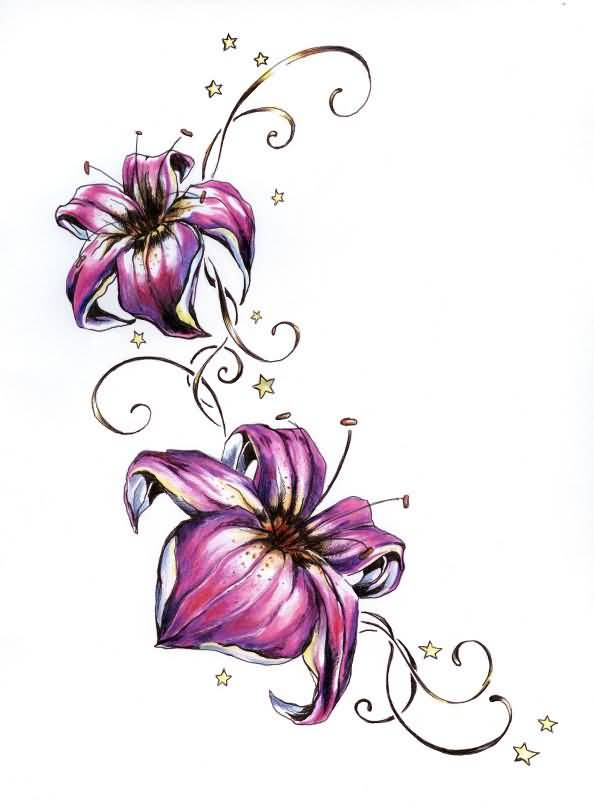 lily tattoo ideas and lily tattoo designs