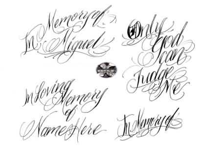 Fantastic Lettering Tattoo Designs | Tattooshunter.Com