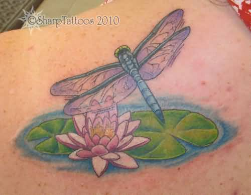 Fantastic Tattoo Of Water Lily