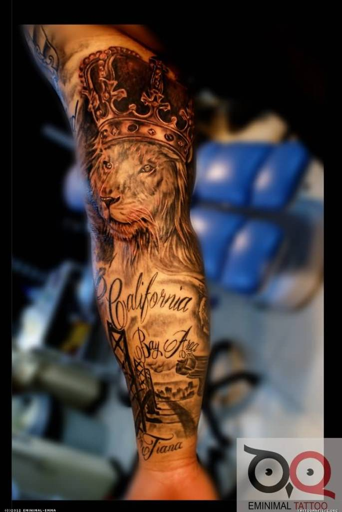 Full sleeve cover up with lion king tattoo for Tattoo cover sleeves
