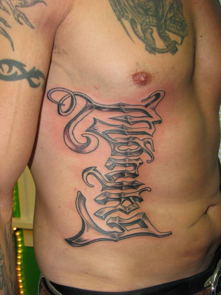Lettering tattoo ideas and lettering tattoo designs page 5 for Tattoo writing on ribs