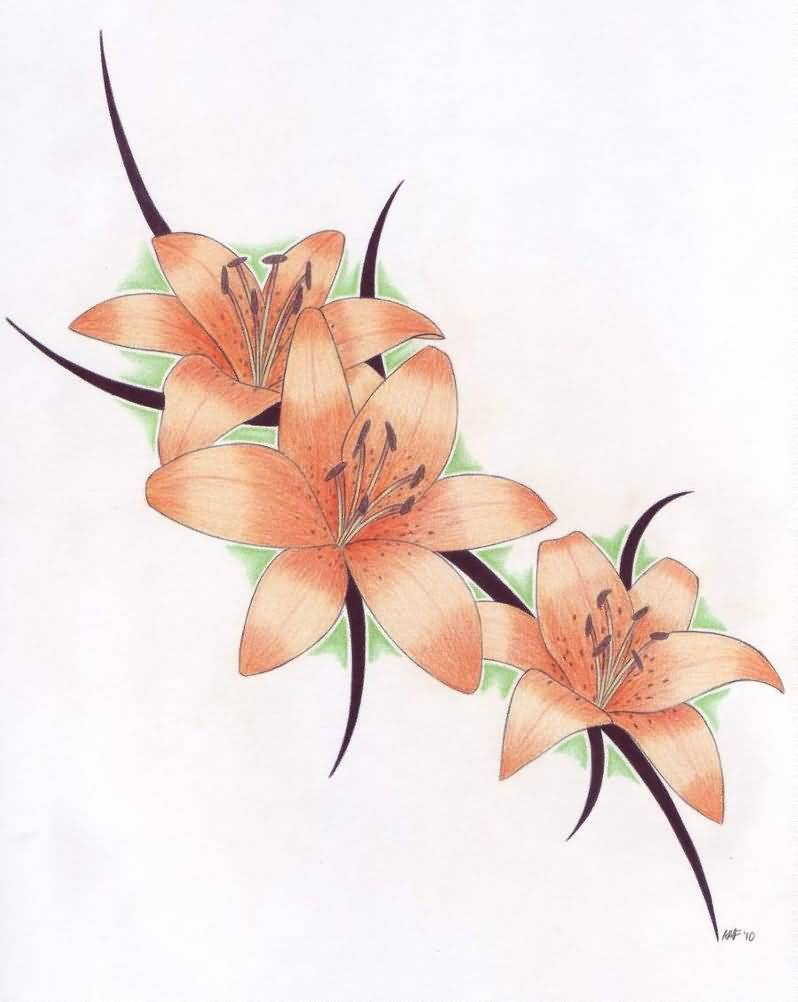 Lily tattoo ideas and lily tattoo designs page 22 impressive lily tattoo picture izmirmasajfo Choice Image
