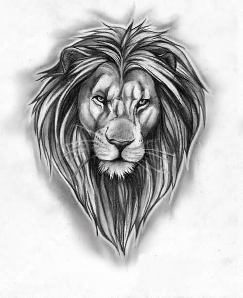 Impressive Outline Of Lion Tattoo Outline lion face in african map tattoo on full back. tattooshunter com