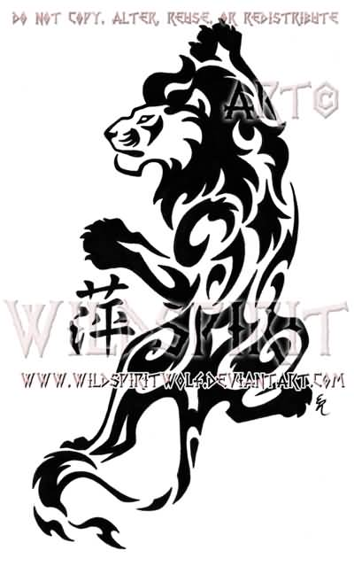 lion tattoo ideas and lion tattoo designs page 82. Black Bedroom Furniture Sets. Home Design Ideas