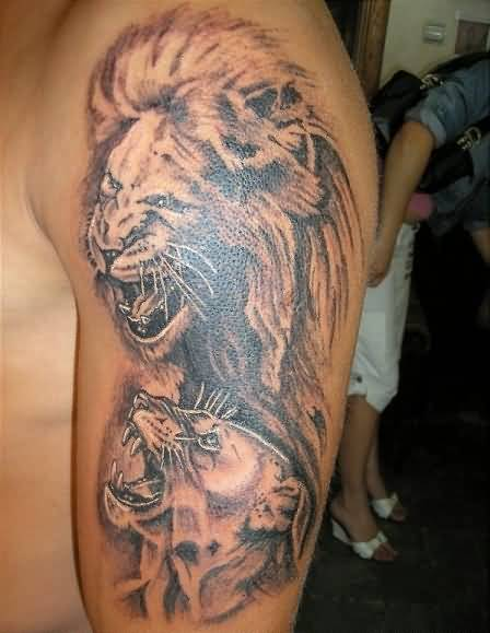 fb4d17793086b Lion And Lioness Tattoo