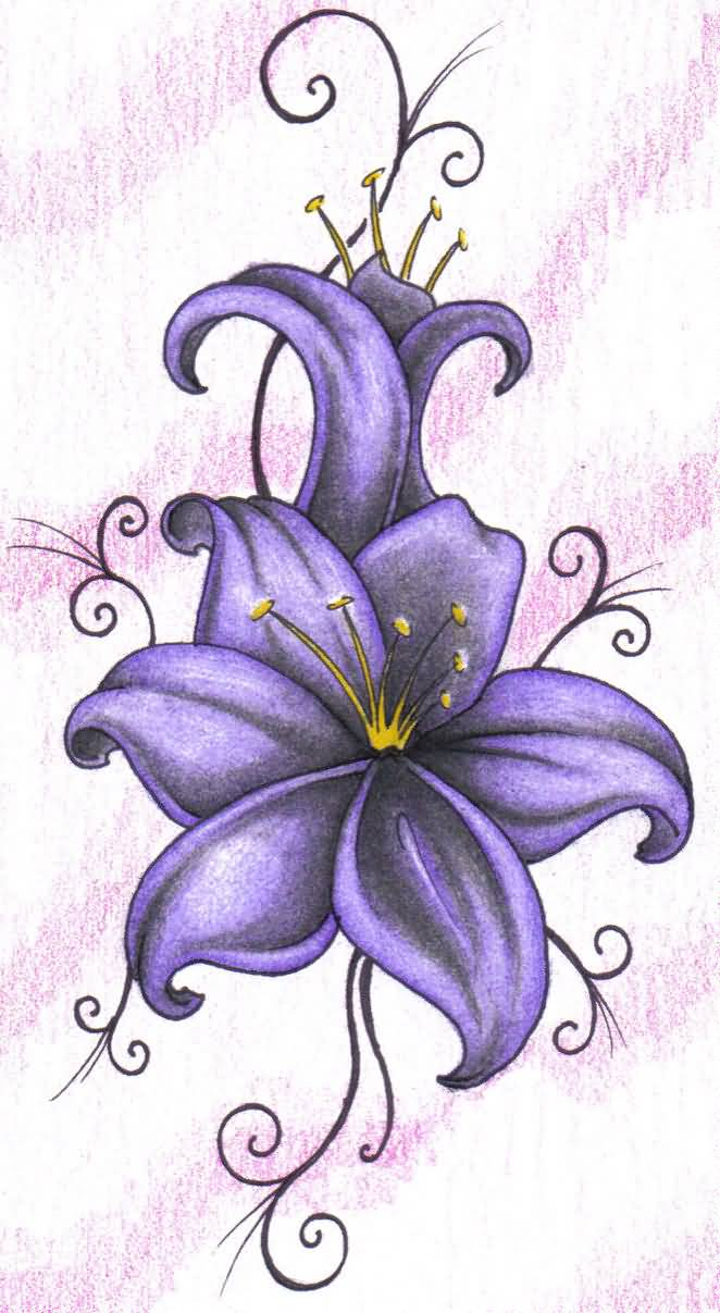 Marvelous lily flower tattoo design tattooshunter marvelous lily flower tattoo design izmirmasajfo