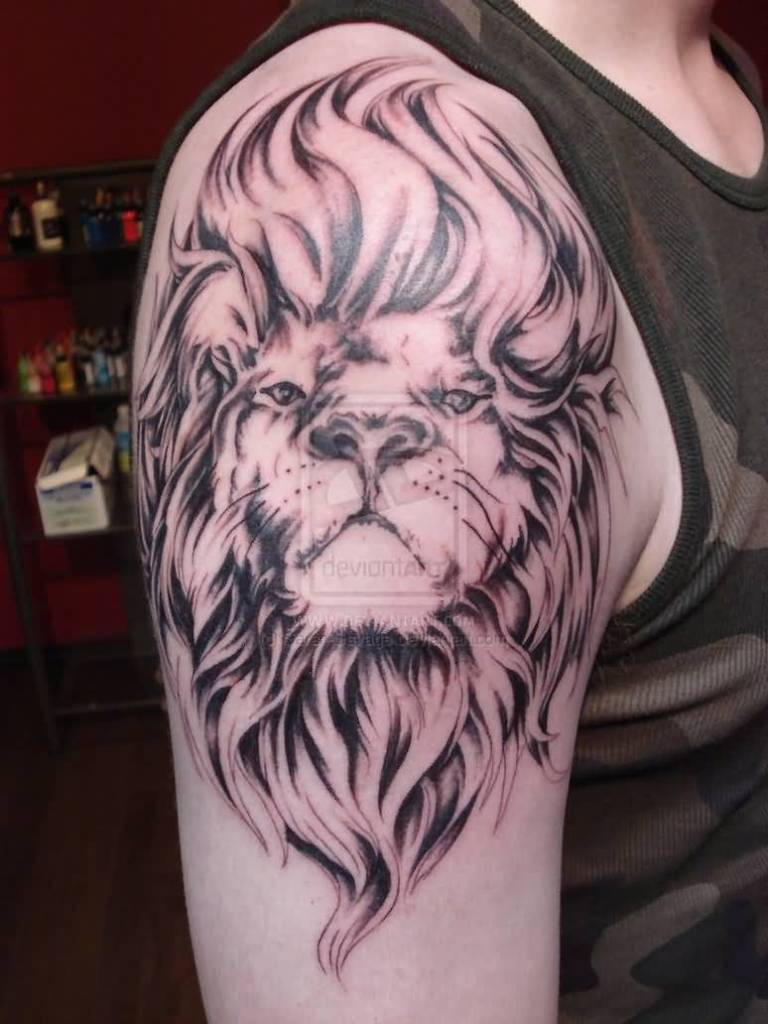 Lion tattoo ideas and lion tattoo designs page 3 for Leo shoulder tattoos