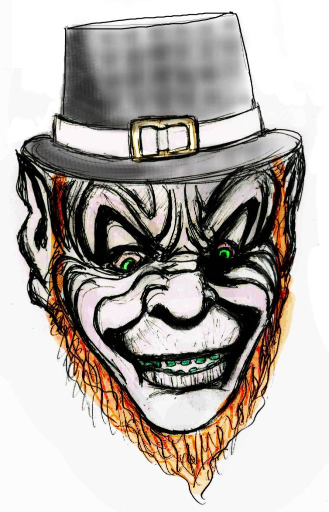 Scary Face Awesome Leprechaun Tattoo Design | Tattooshunter.com