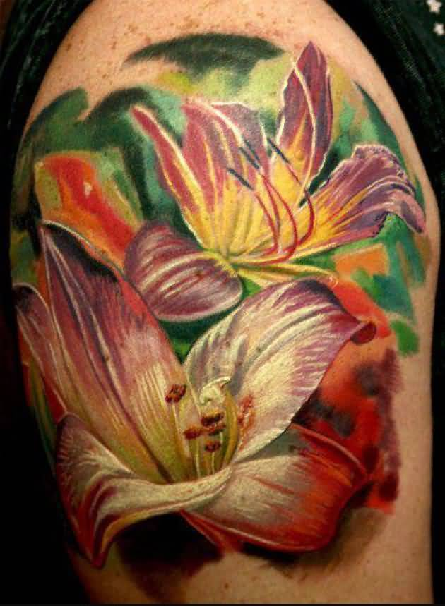 Tribal Lily Tattoos: Lily Tattoo Ideas And Lily Tattoo Designs