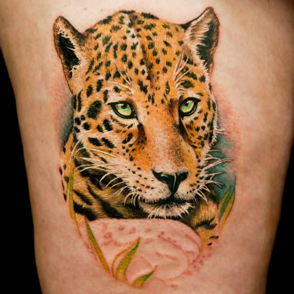 Leopard tattoo ideas and leopard tattoo designs page 2 for Leopard tattoo on thigh